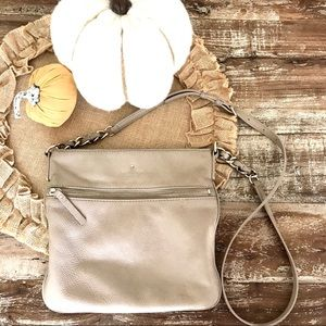 kate spade | Tan Leather Crossbody Bag